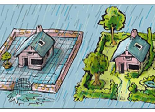 Regenwater van je dak naar je tuin