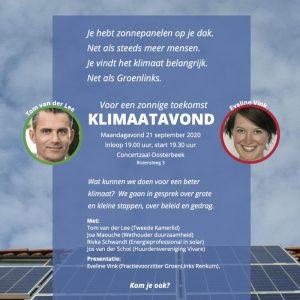 Klimaatavond van GroenLinks Renkum @ Concertzaal | Oosterbeek | Gelderland | Nederland